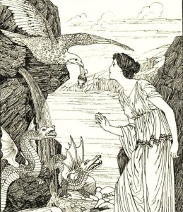 Illustration of a scene in Cupid & Psych